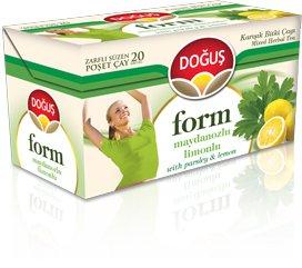 چای سبز لاغری دوغوش ترکیه طعم لیمو جعفری