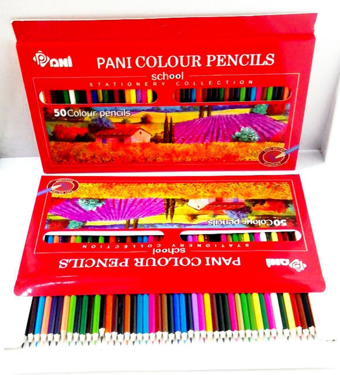 مداد رنگی 50 رنگ پانی