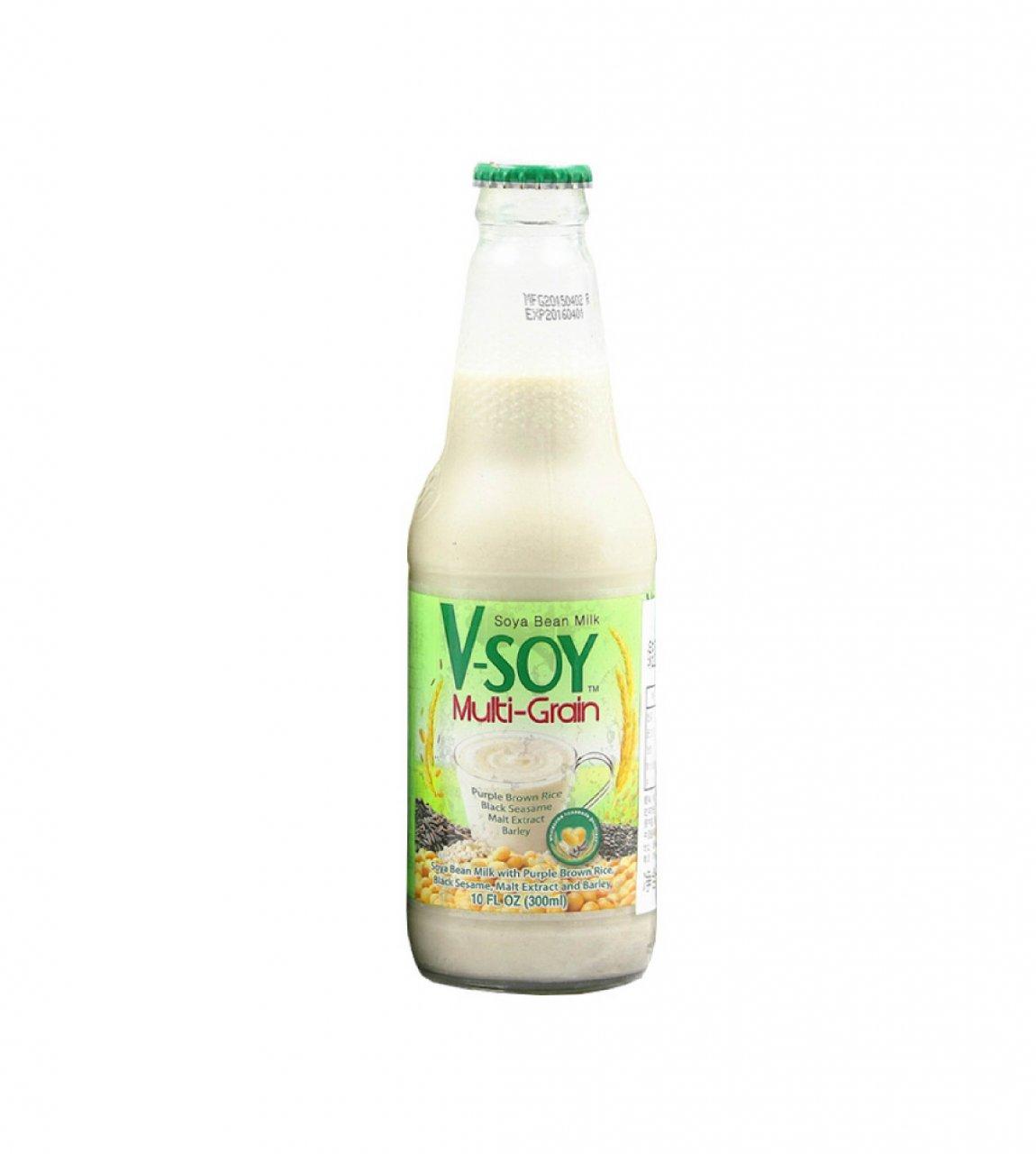 شیر سویا چند غله وی سوی شیشه ای
