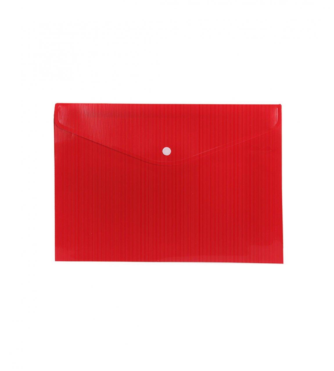 پوشه دکمه دار سایز A4 رنگ قرمز