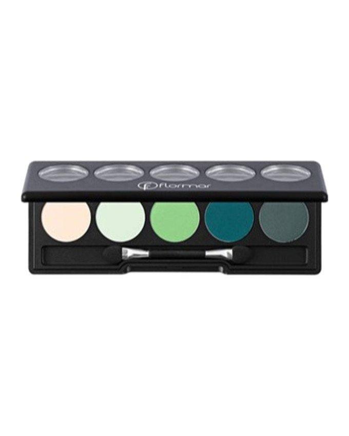 سایه چشمپالت 5 رنگ کد 09 کرم تا سبز flormar