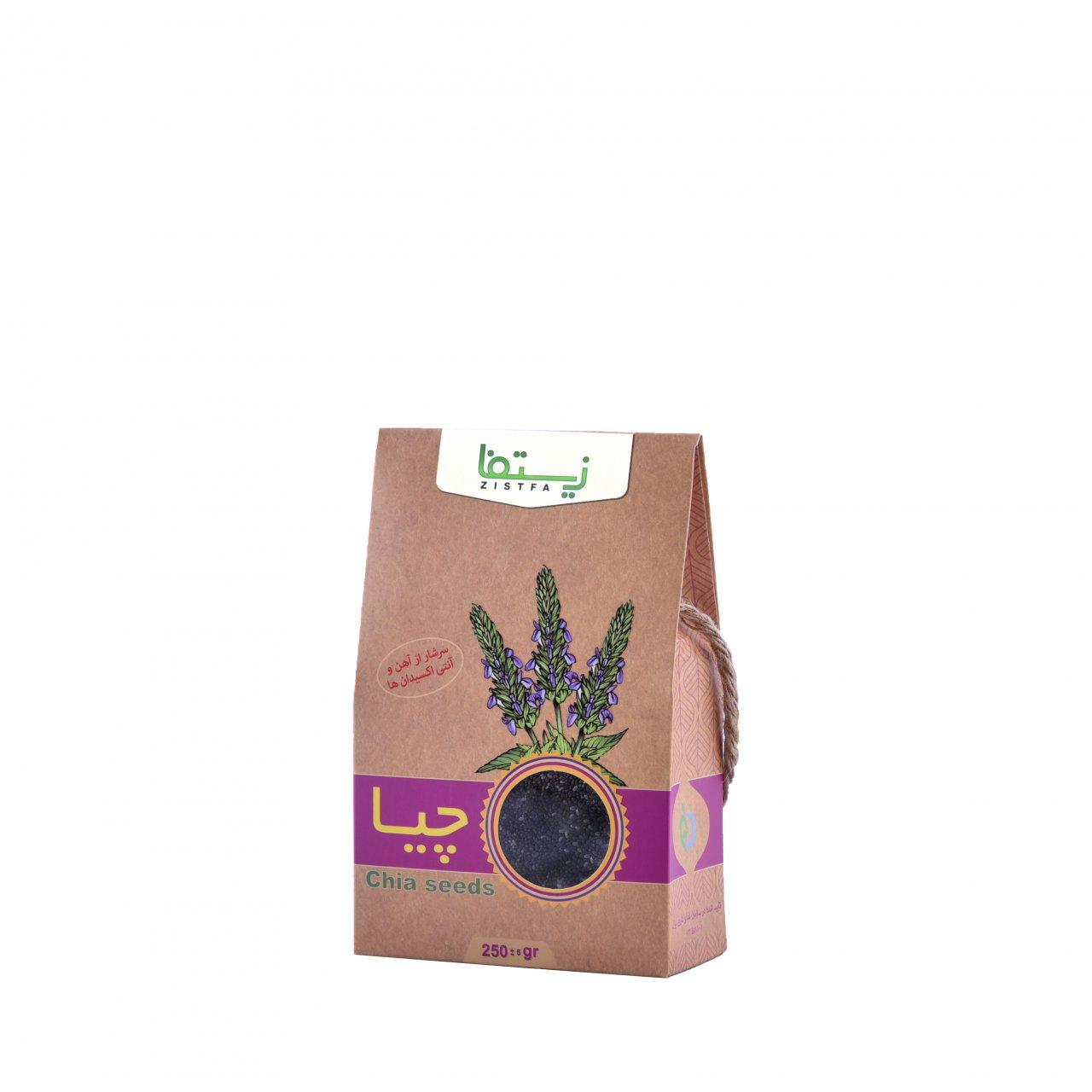 دانه چیا زیستفا جعبه 250 گرم