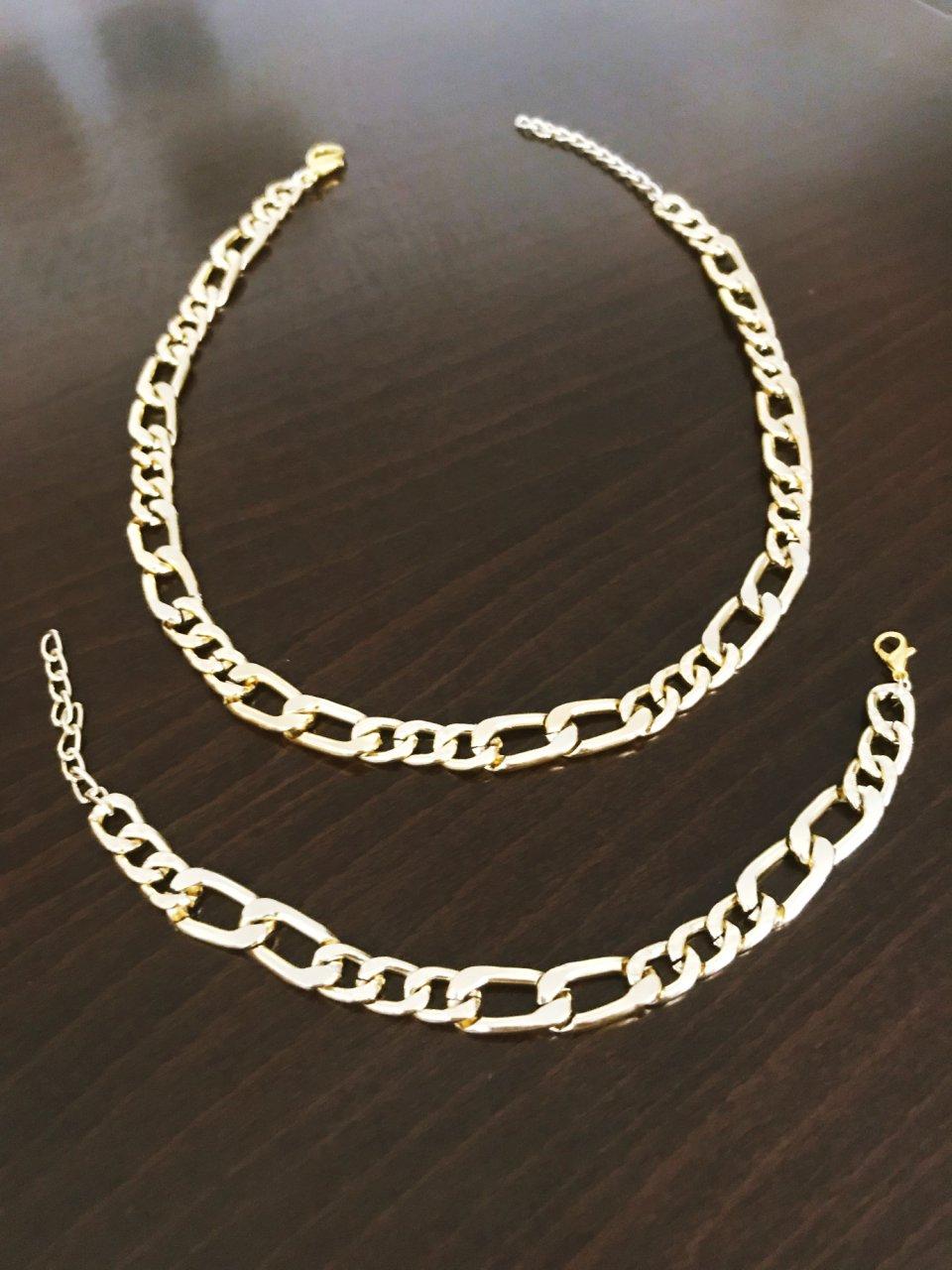 ست گردنبند و دستبند استیل