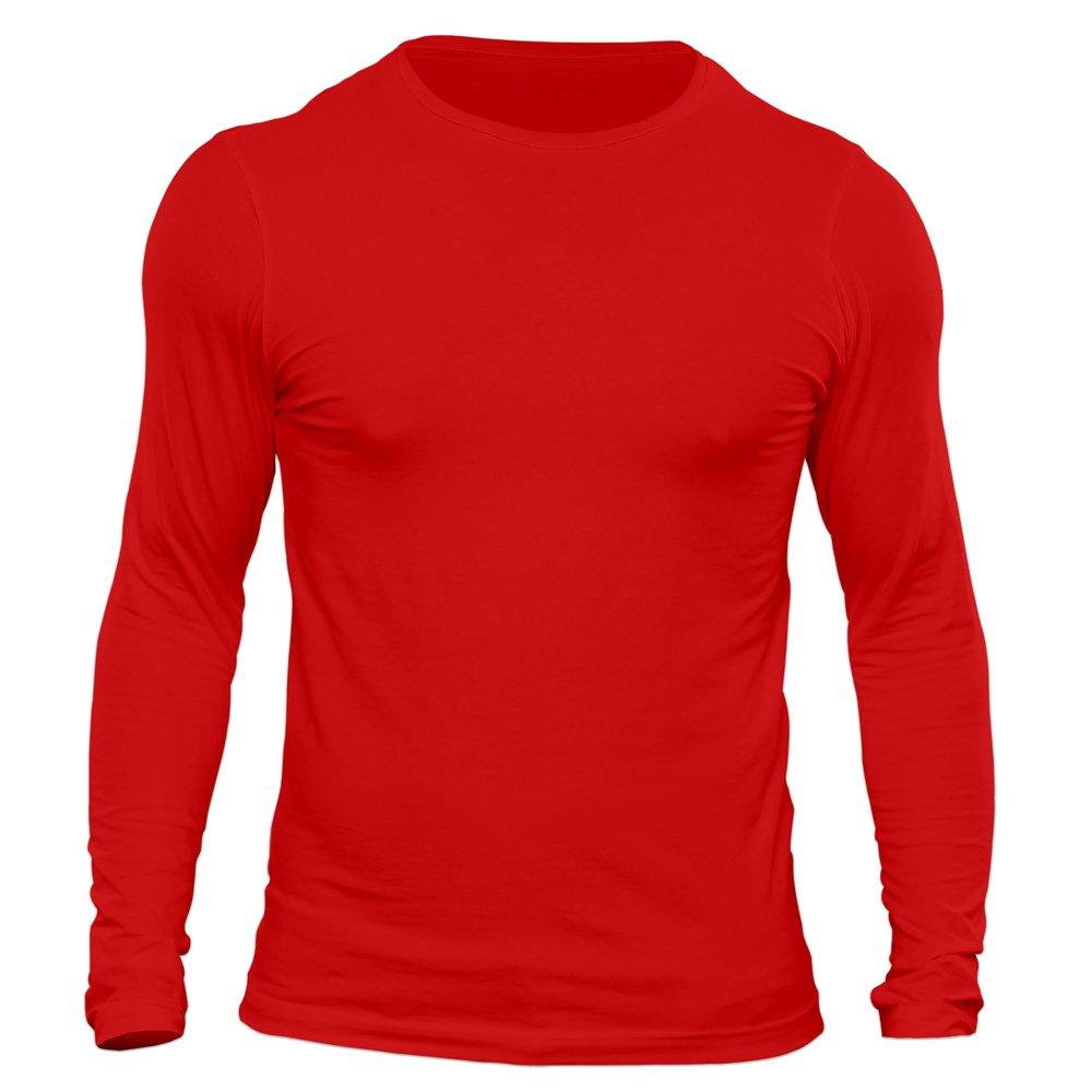 تیشرت آستین بلند مردانه کد 3SRD رنگ قرمز