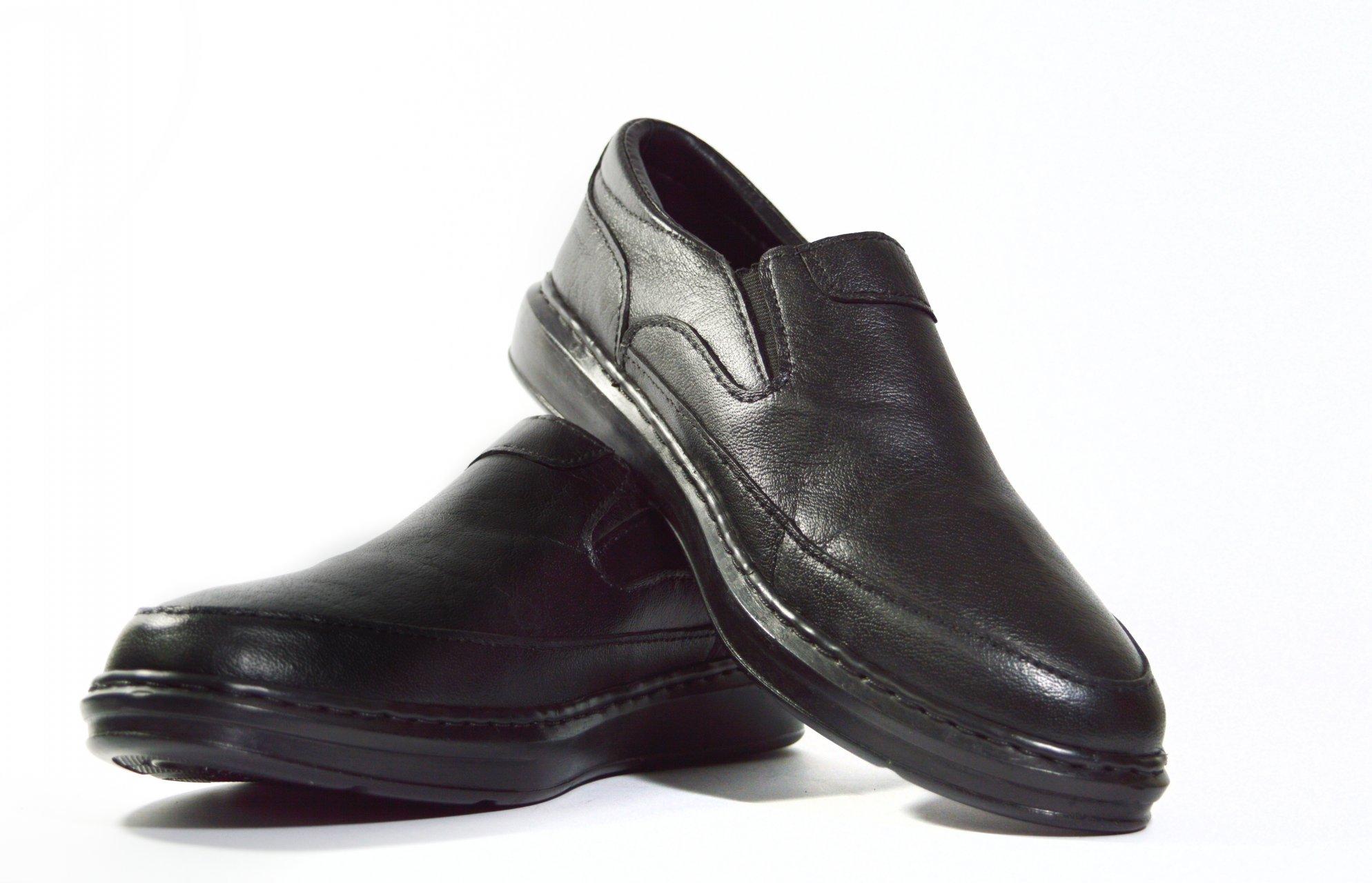 کفش طبی مردانه رنگ مشکی مدل K508