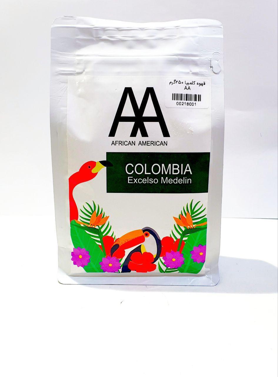 دانه قهوه دبل اِی کلمبیا 250 گرم