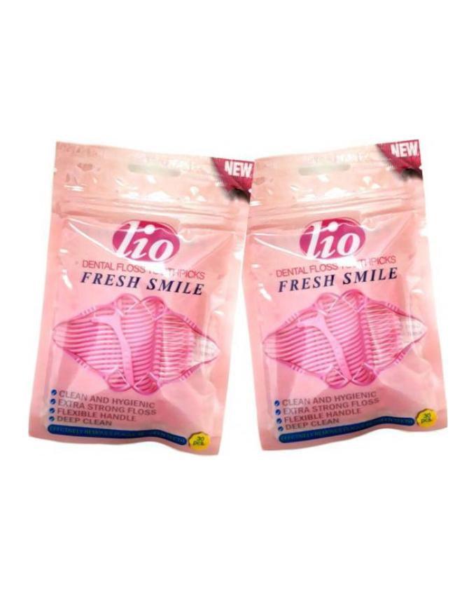 پک دو عددی نخ دندان کمانی همراه باخلال دندان لیو Lio