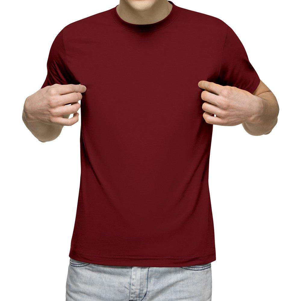 تیشرت آستین کوتاه مردانه کد 1BRD رنگ زرشکی