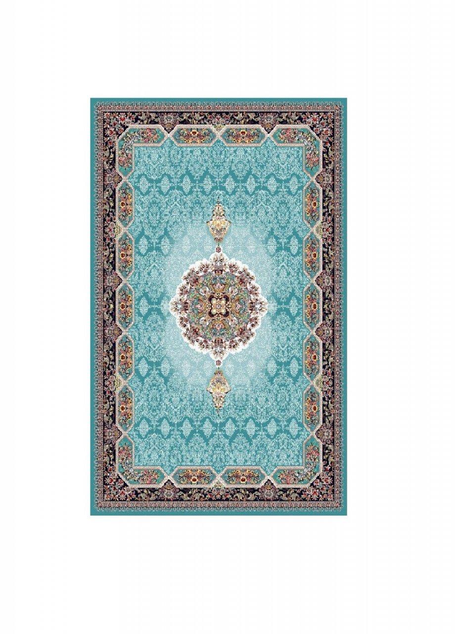 فرش نقش هالیدی آبی رنگ 700 شانه 12 متری