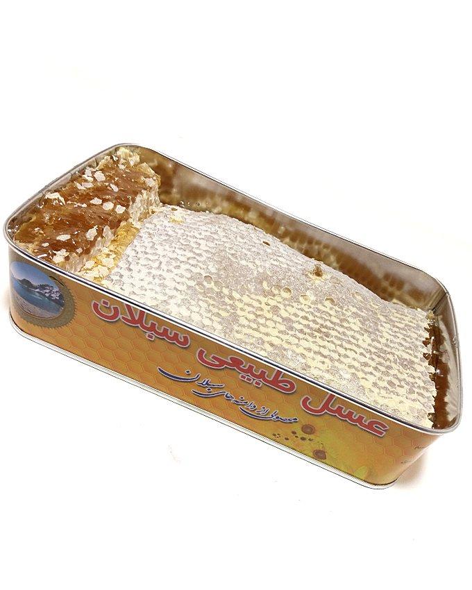 عسل طبیعی بهاره سبلان دو کیلویی ساکاروز زیر 5 درصد