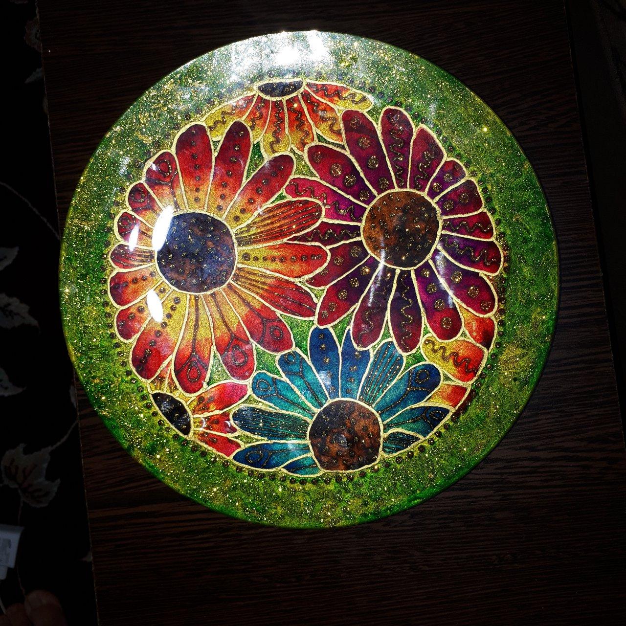 بشقاب شیشه ای با طراحی ویترای