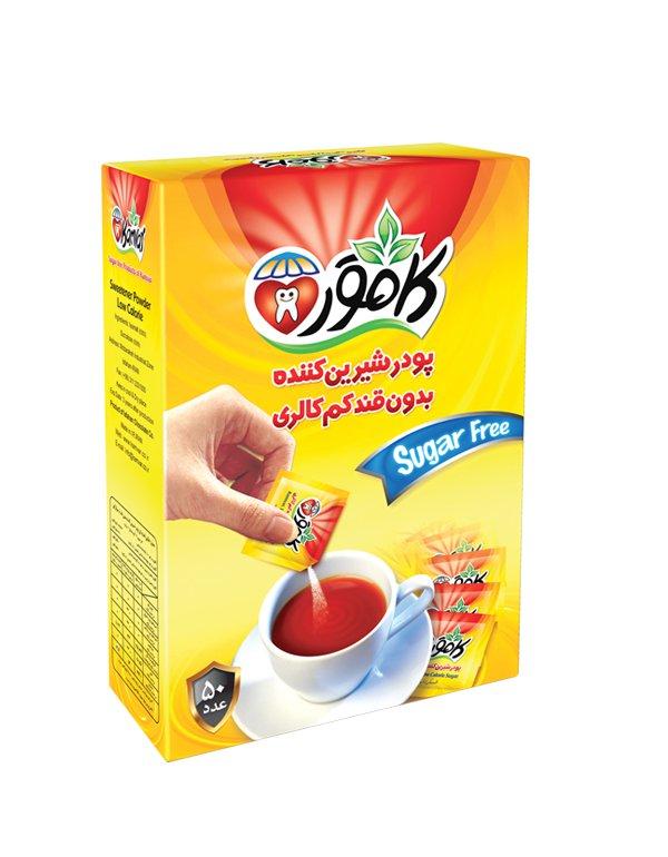 پودر شیرین کننده رژیمی کامور 50 عددی