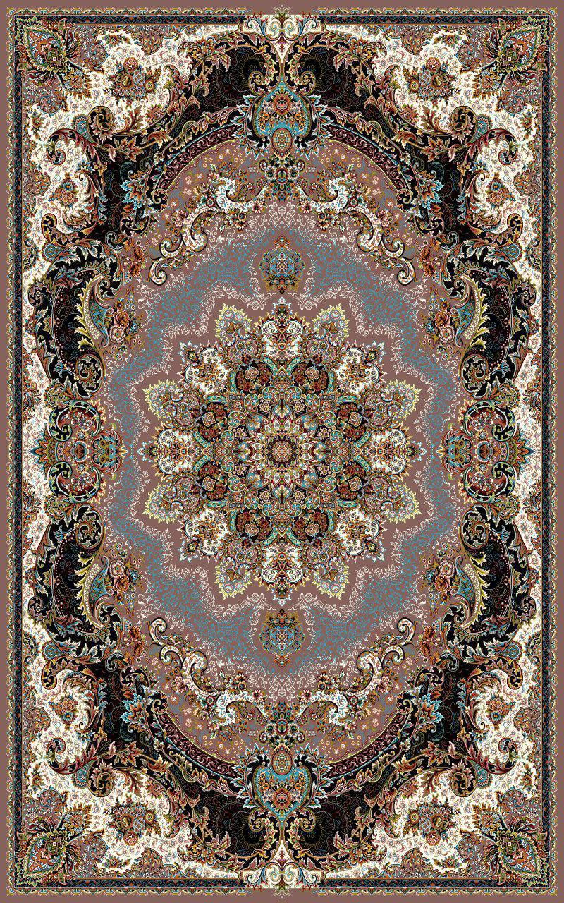 فرش نقش ژاله گردویی رنگ 700 شانه 12 متری