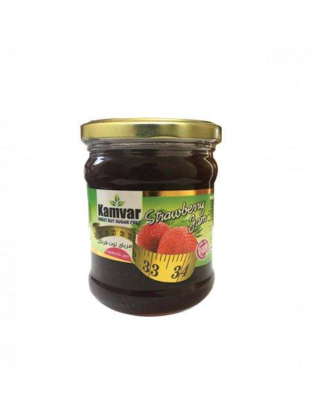 مربای توت فرنگی رژیمی کامور 280 گرم