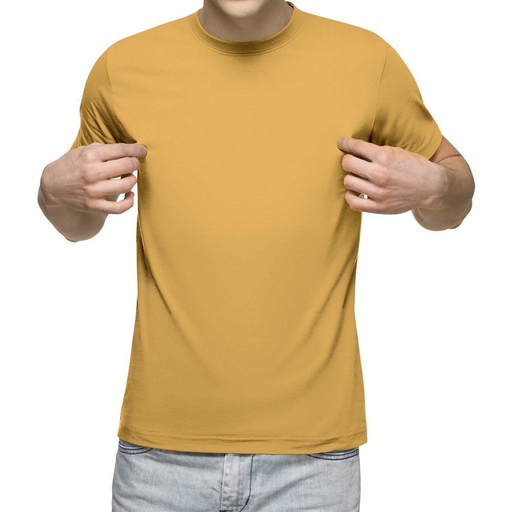 تیشرت آستین کوتاه مردانه کد 1SYL رنگ زرد