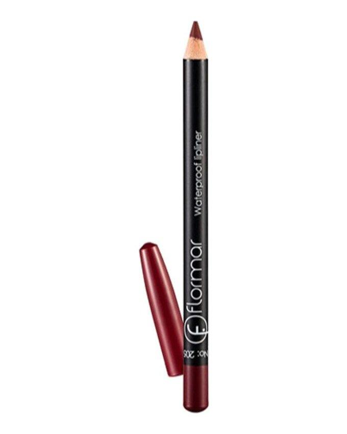 مداد لب ضد آب کد 205 رنگ زرشکی flormar