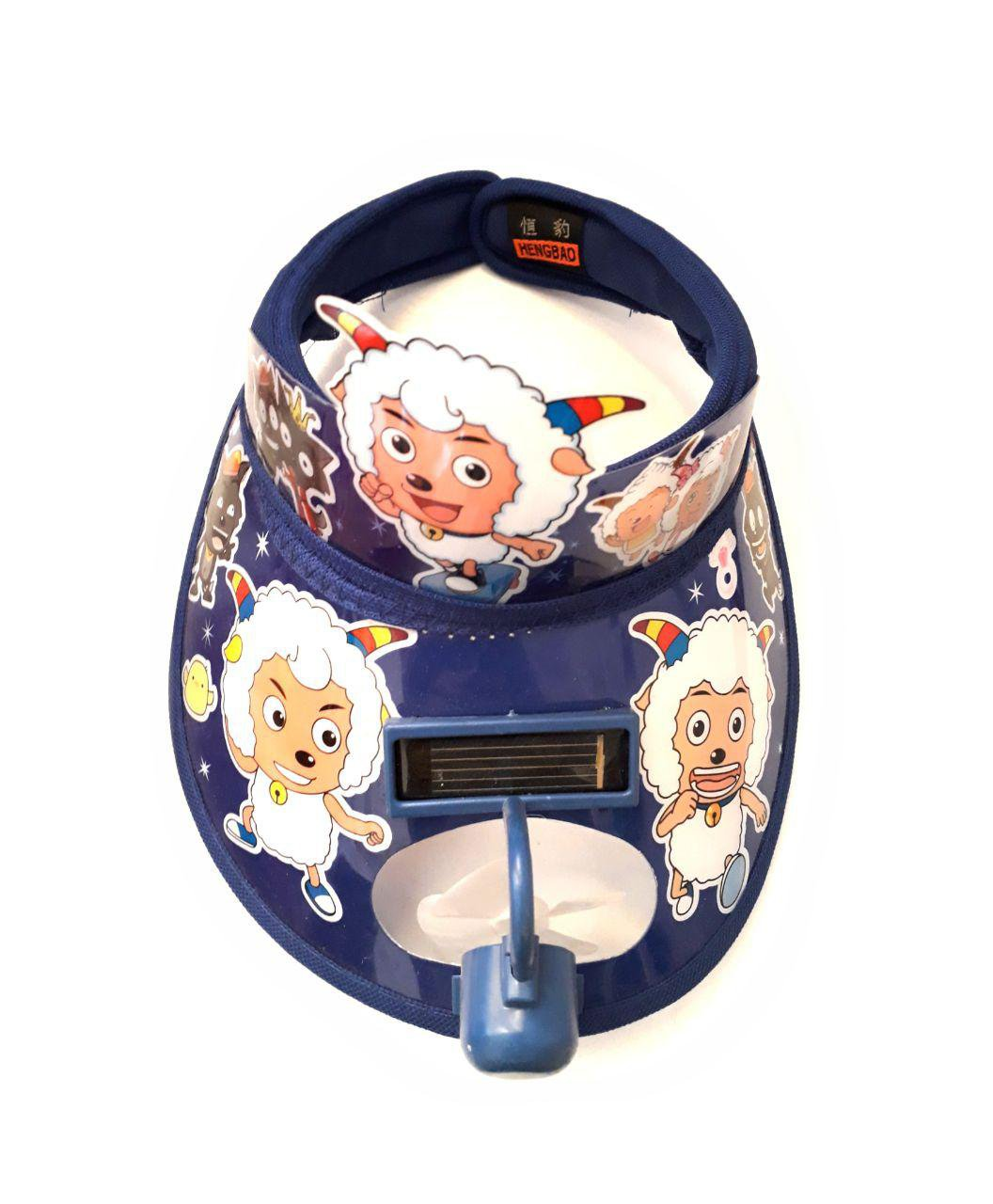 کلاه لبه دار تابستانی بچه گانه دارای فن با باتری خورشیدی