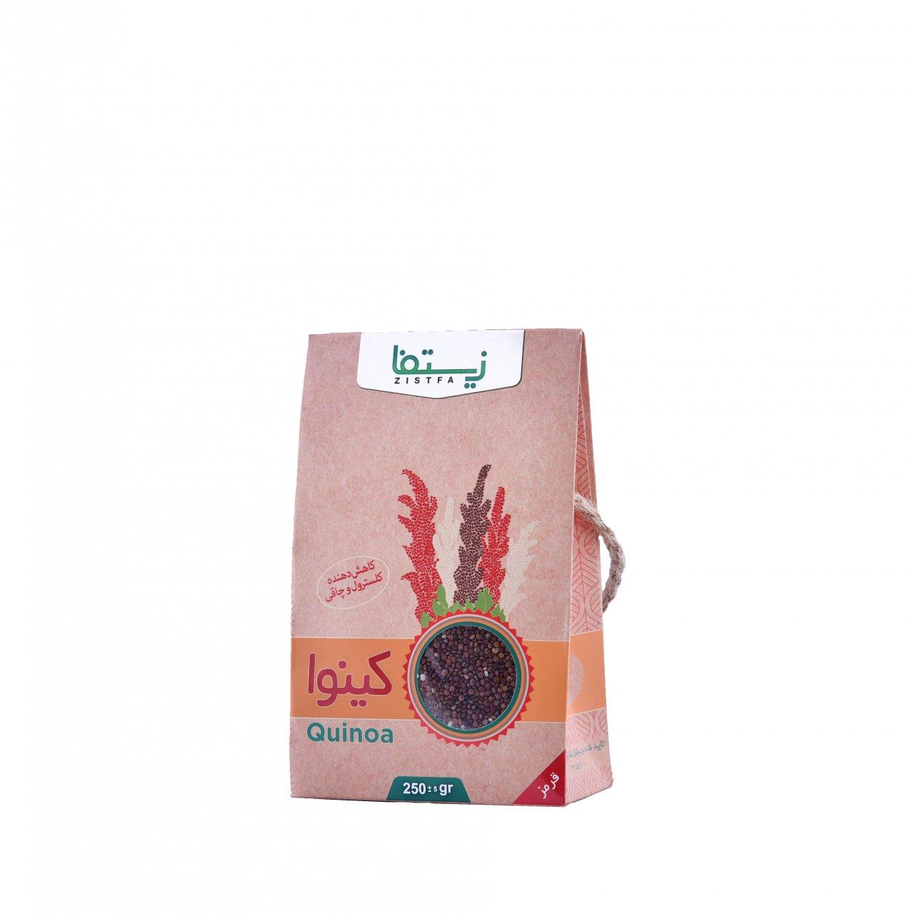 دانه کینوآ قرمز زیستفا جعبه 250 گرم