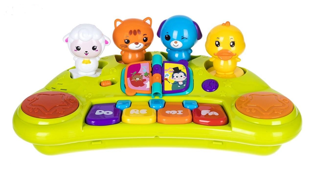 بازی آموزشی جوجه هالی تویز مدل پیانو حیوانات (ارسال رایگان)