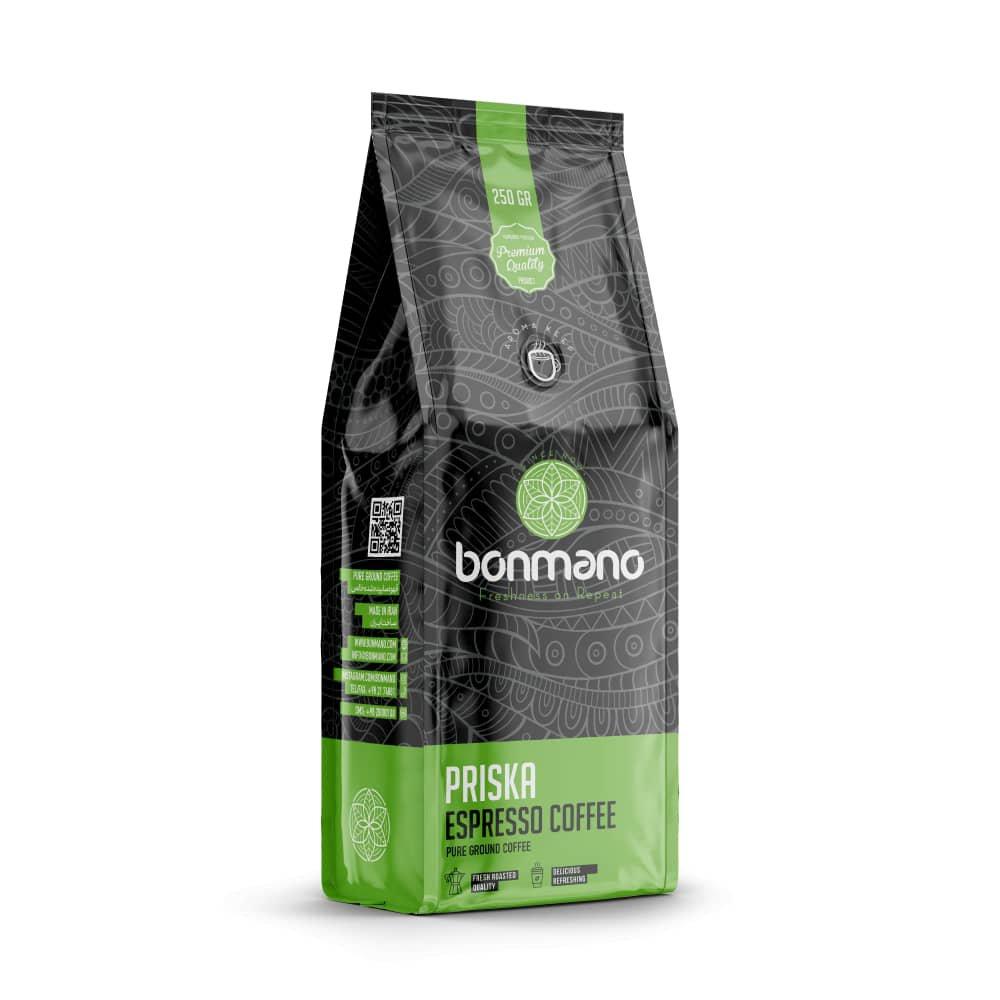 قهوه اسپرسو پریسکا بن مانو 250 گرمی
