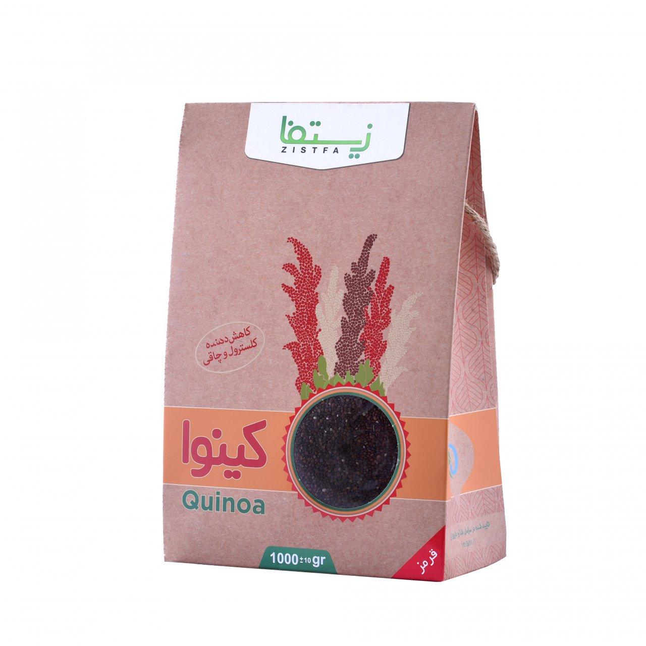 دانه کینوآ قرمز زیستفا جعبه 1 کیلوگرمی