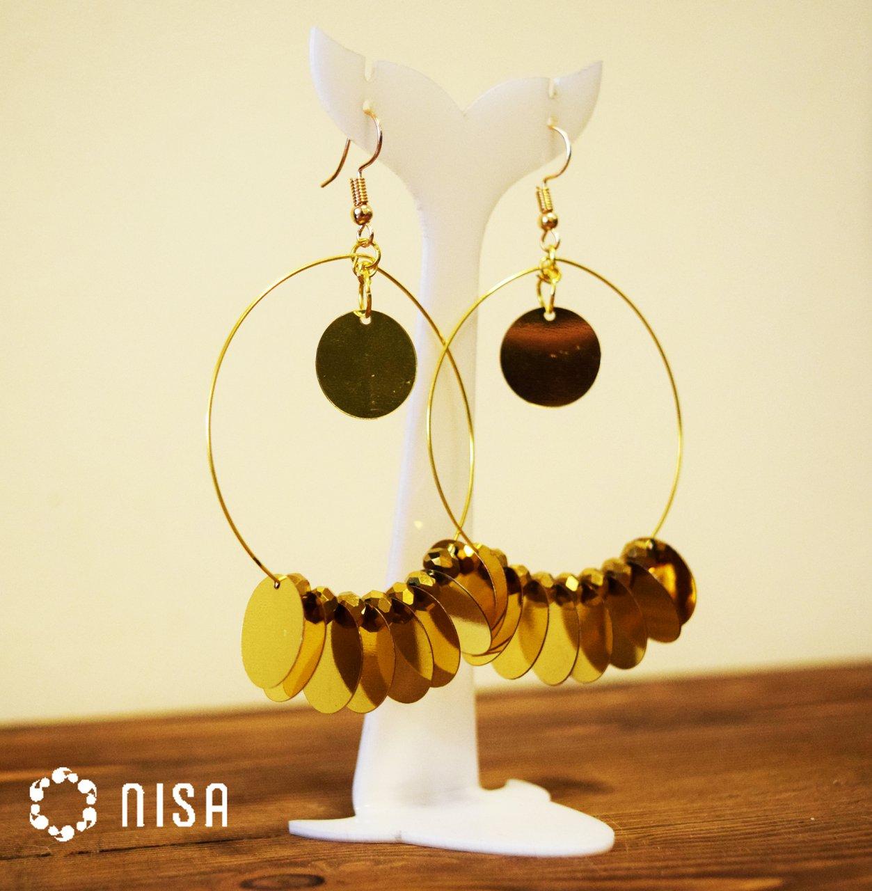 گوشواره حلقه ای طلایی