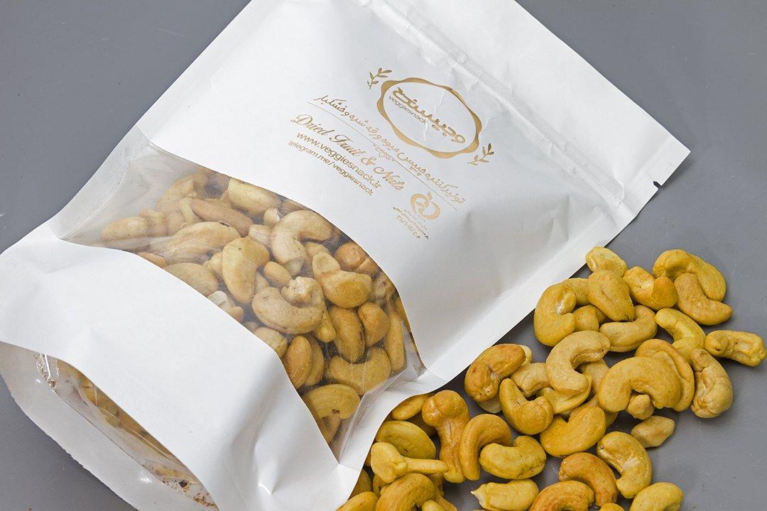 بادام هندی شور متوسط 250 گرم وجیسنک