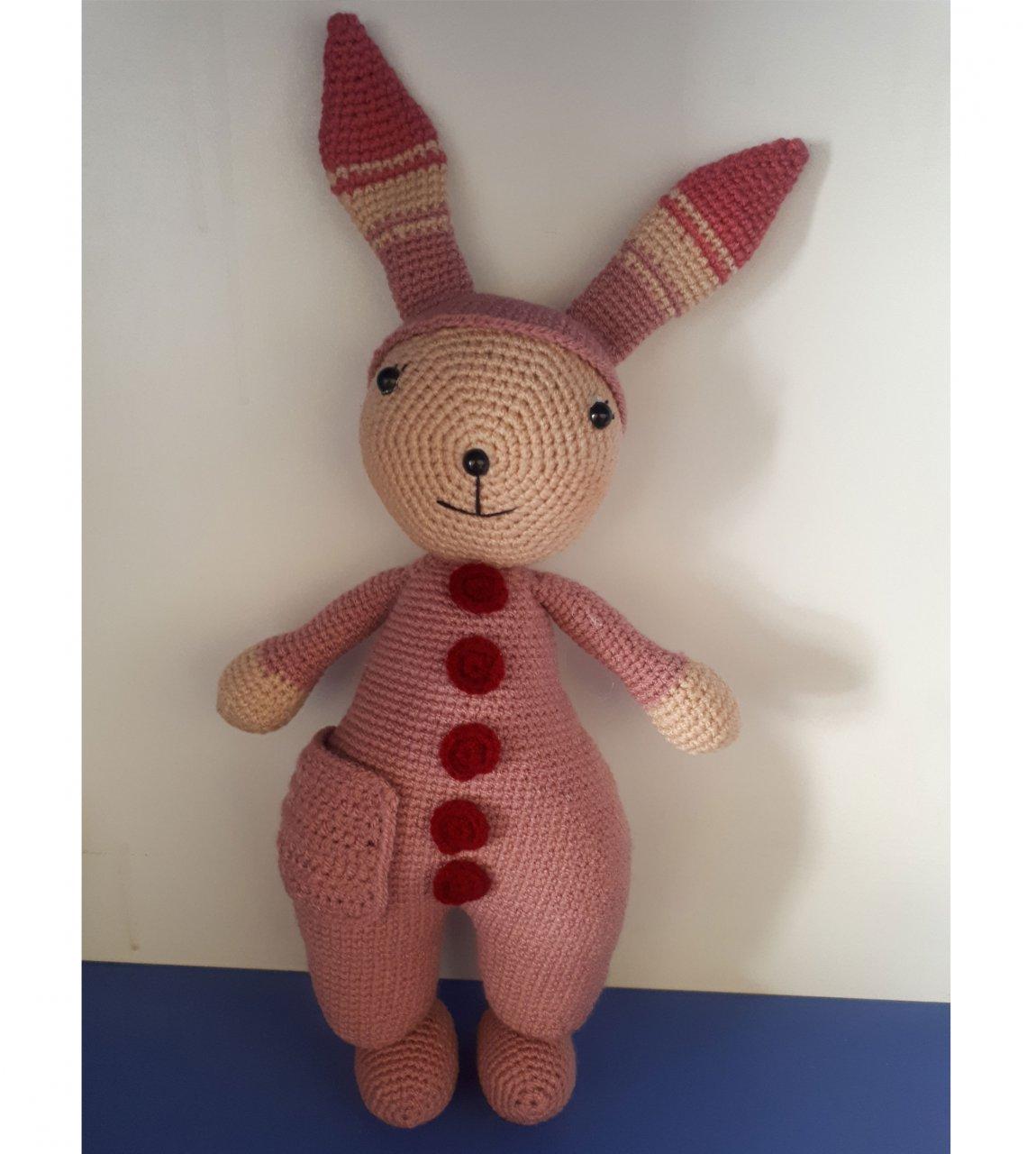 عروسک دست ساز طرح خرگوش