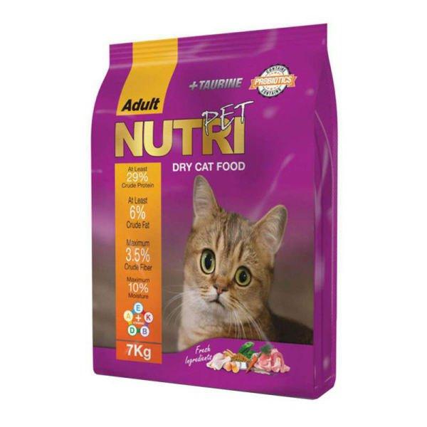 غذای خشک گربه نوتری پت مدل Adult مقدار 7 کیلوگرم