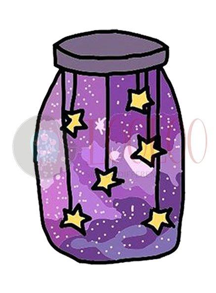 استیکر شیشه کهکشانی از مجموعه کهکشانی لولو استیکر