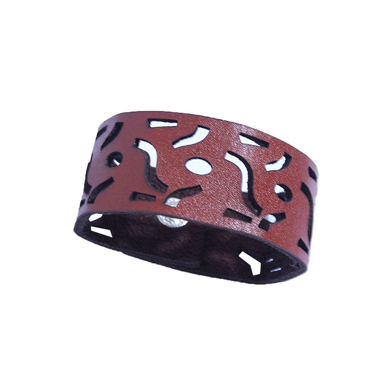 دستبند با چرم طبیعی