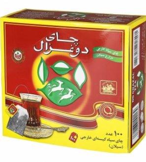 چای کیسه ای ساده 100 عددی دوغزال
