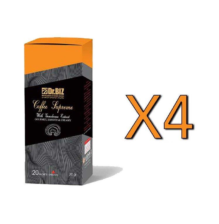 قهوه فوری سوپریم با قارچ گانودرما دکتر بیز پک 4 عددی ارسال رایگان