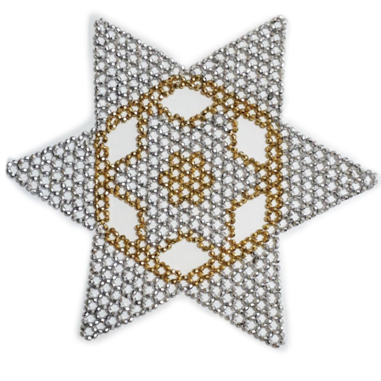رومیزی دستبافت کریستال بافی ستاره ای جدید
