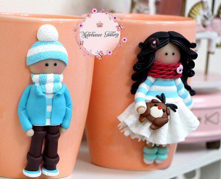 عروسک پلیمری ست دختر و پسر