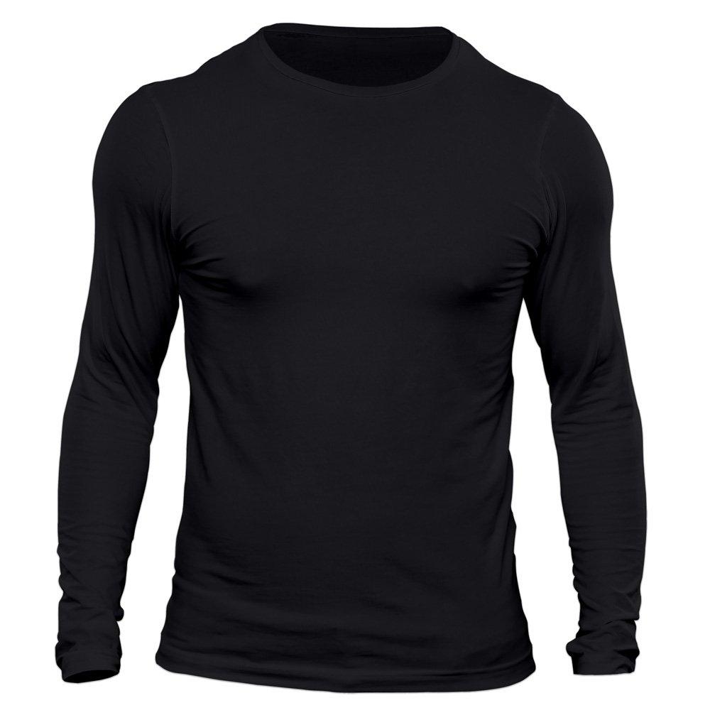 تیشرت آستین بلند مردانه کد 3ABL رنگ مشکی