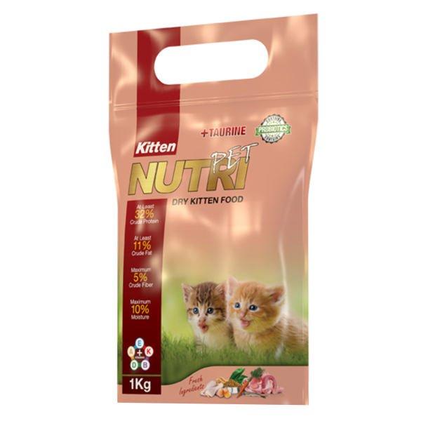 غذای خشک پروبیوتیک بچه گربه نوتری پت مدل Kitten مقدار 1 کیلوگرم