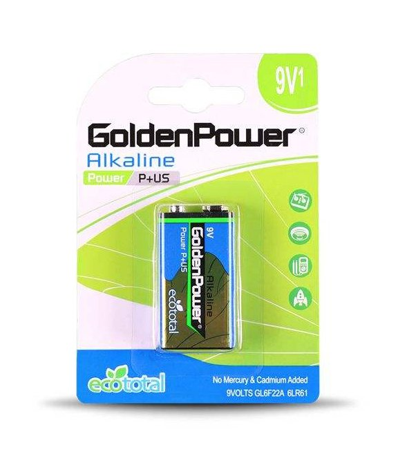 باتری کتابی گلدن پاور مدل Eco Total Power Alkaline