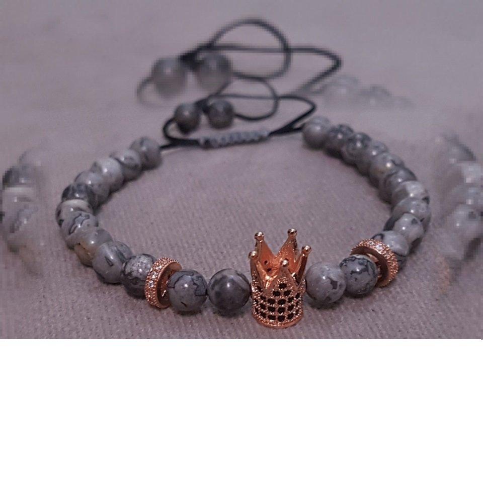 دستبند سنگ ابسیدیان و تاج