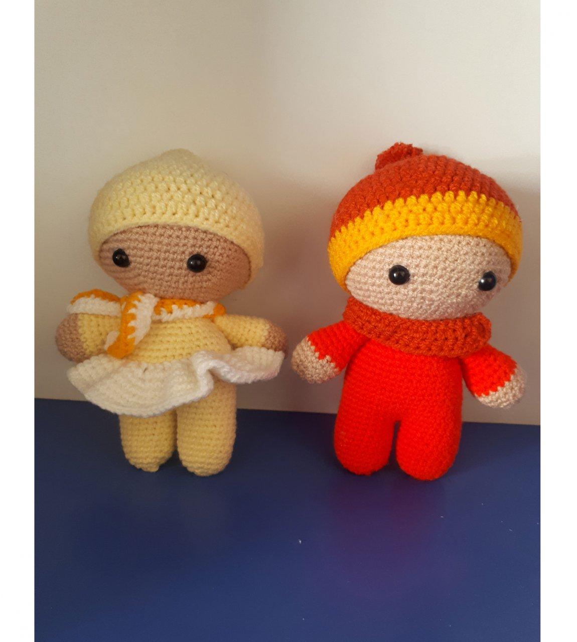 عروسک دستساز طرح نی نی دختر و پسر