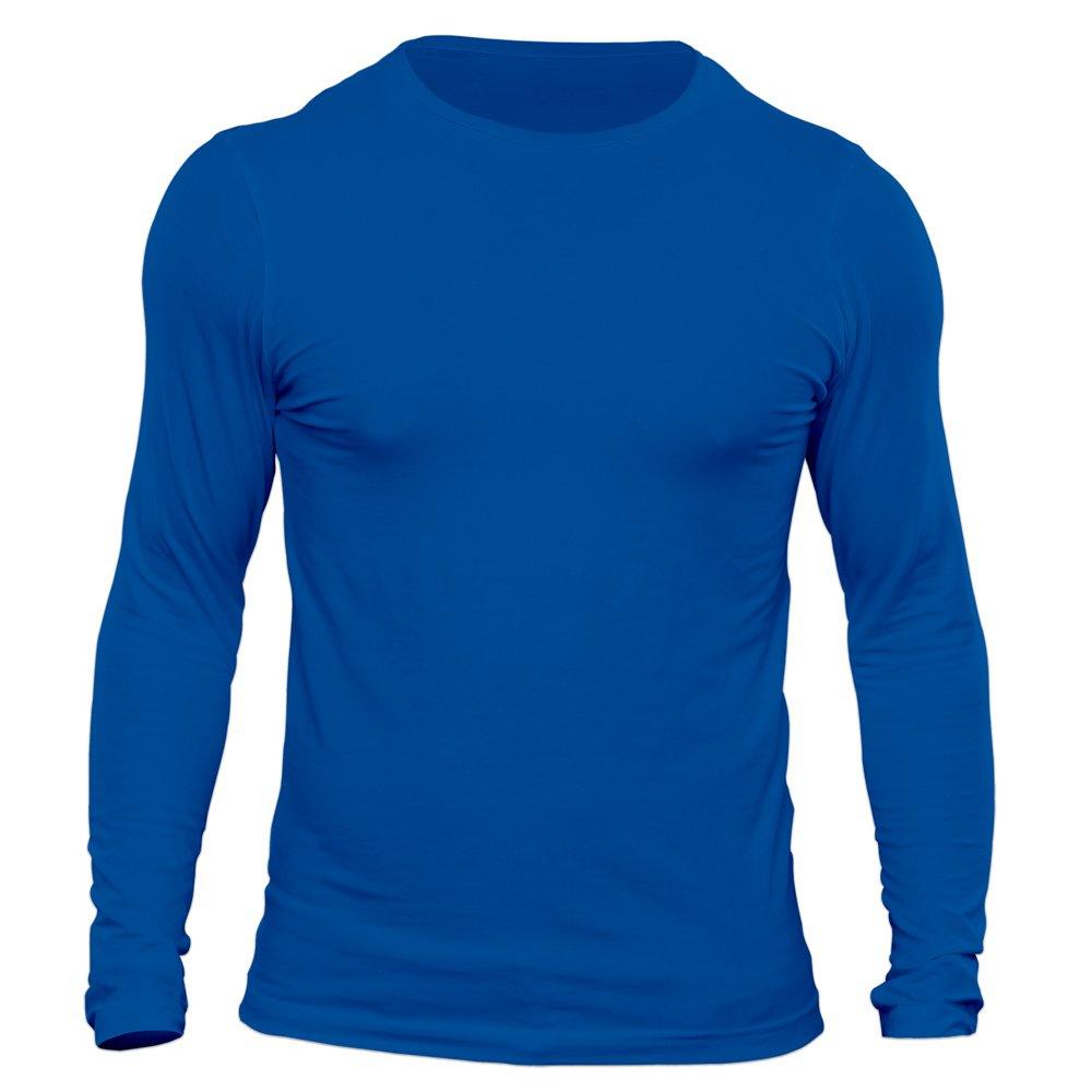 تیشرت آستین بلند مردانه کد 3TBU رنگ آبی