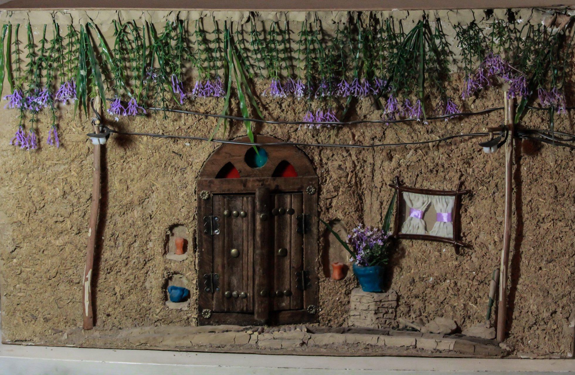 ماکت کاهگلی درب کوچه باغ