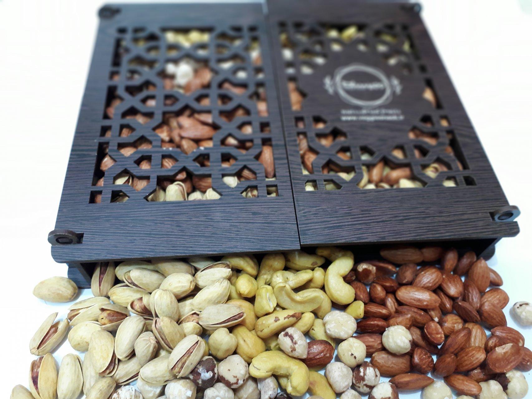 آجیل شور کادویی چوبی وجیسنک 650 گرم
