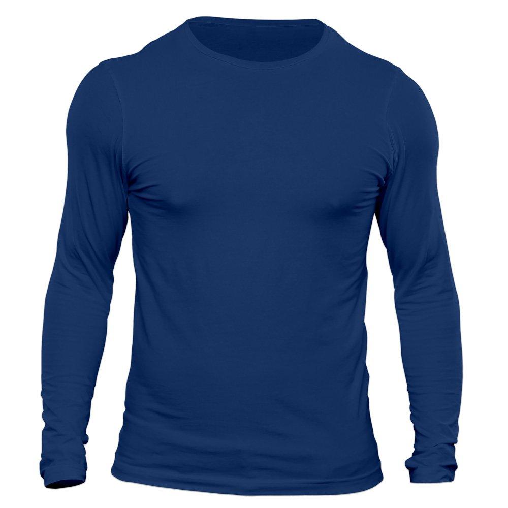 تیشرت آستین بلند مردانه کد 3QBU رنگ آبی نفتی