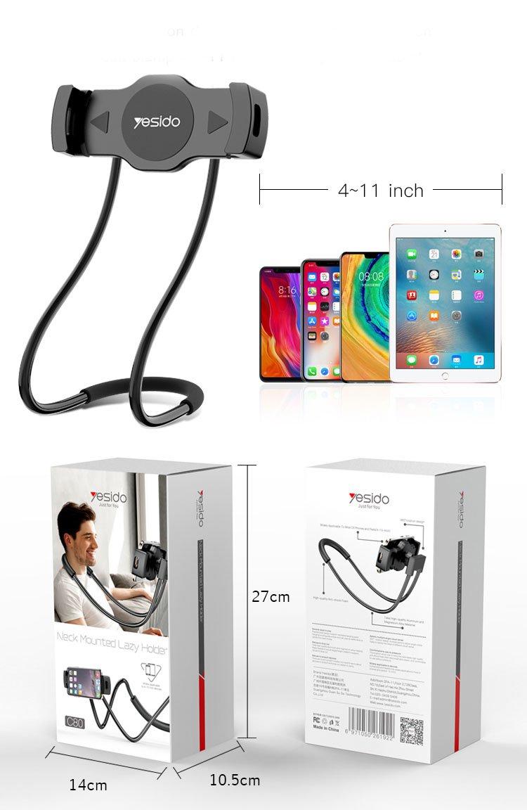 yesido c80 neck mounted lazy holder