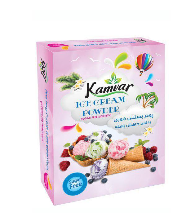 پودر بستنی توت فرنگی رژیمی کامور