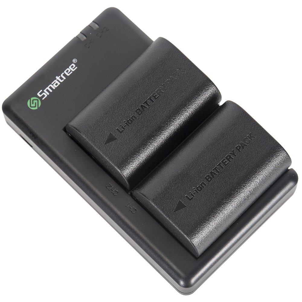 شارژر باتری دوربین اسماتری مدل LP-E6 به همراه 2 عدد باتری