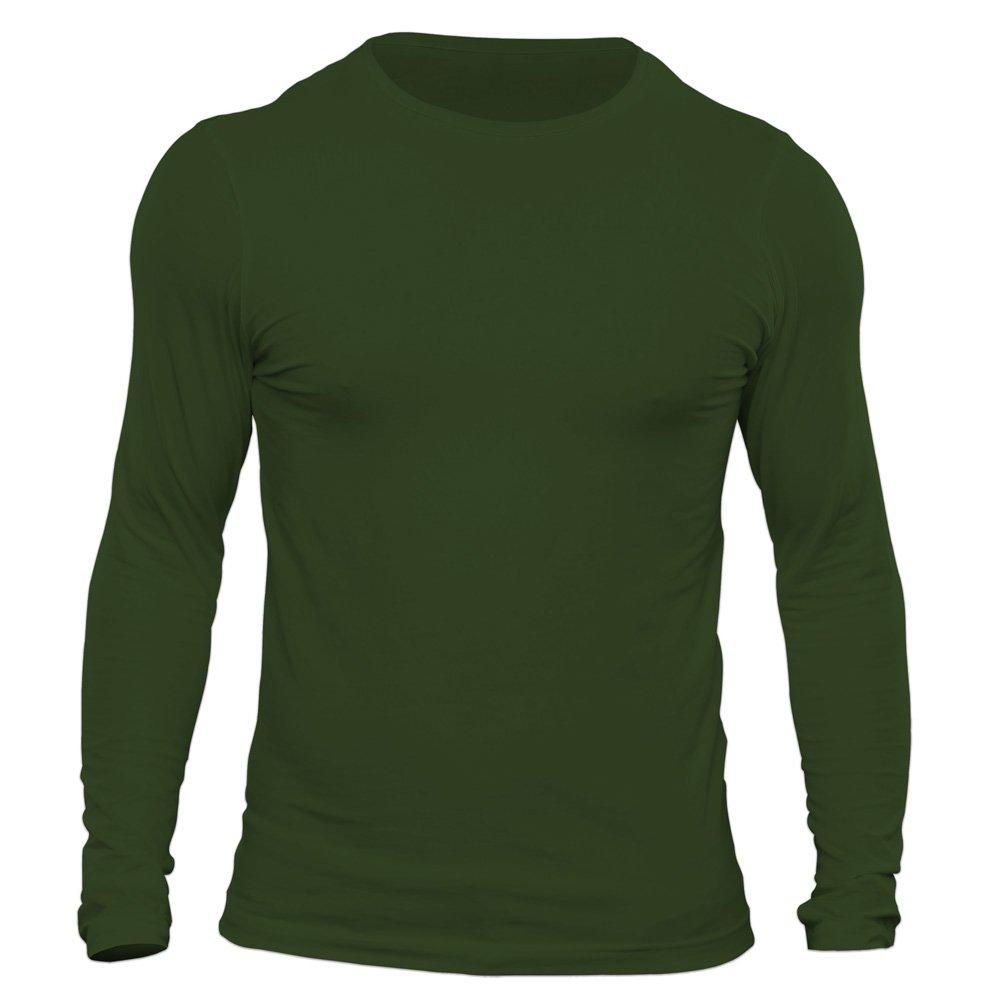 تیشرت آستین بلند مردانه کد 3ZGR رنگ سبز ارتشی