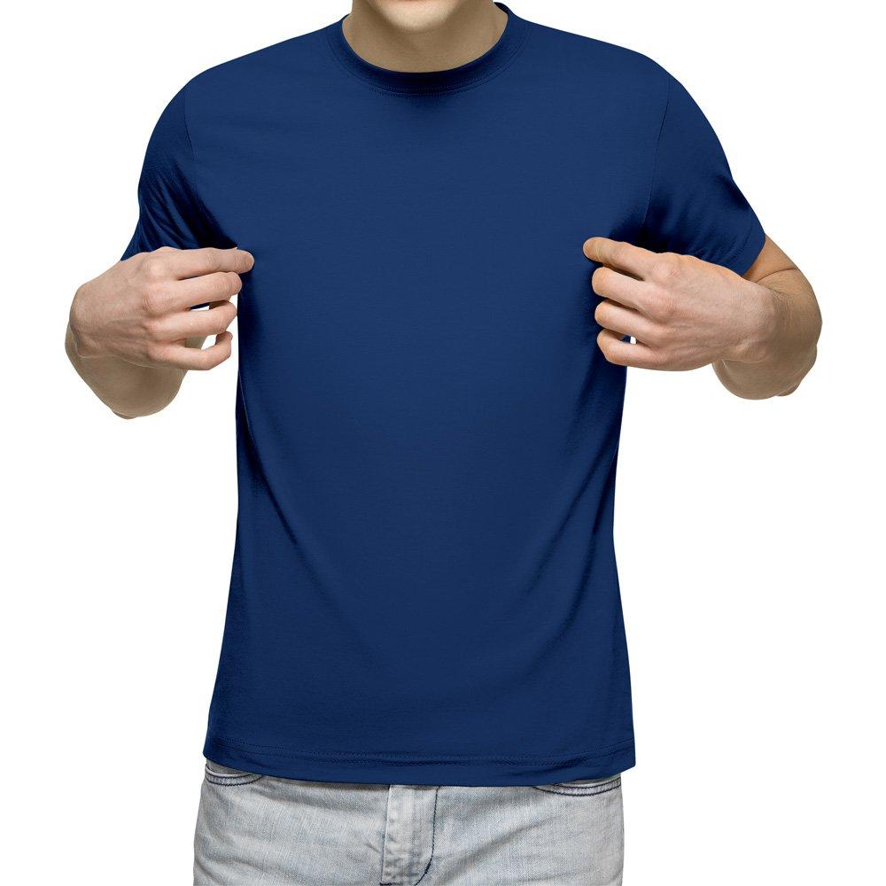 تیشرت آستین کوتاه مردانه کد 1QBU رنگ آبی نفتی
