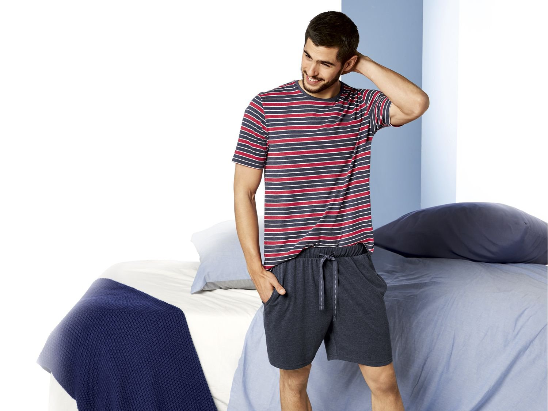 ست تی شرت و شلوارک مردانه لیورجی مدل راه راه